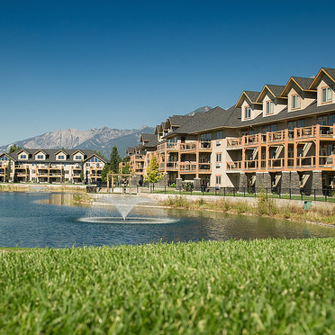 Bighorn Meadows Condos located between the ninth and 10th holes