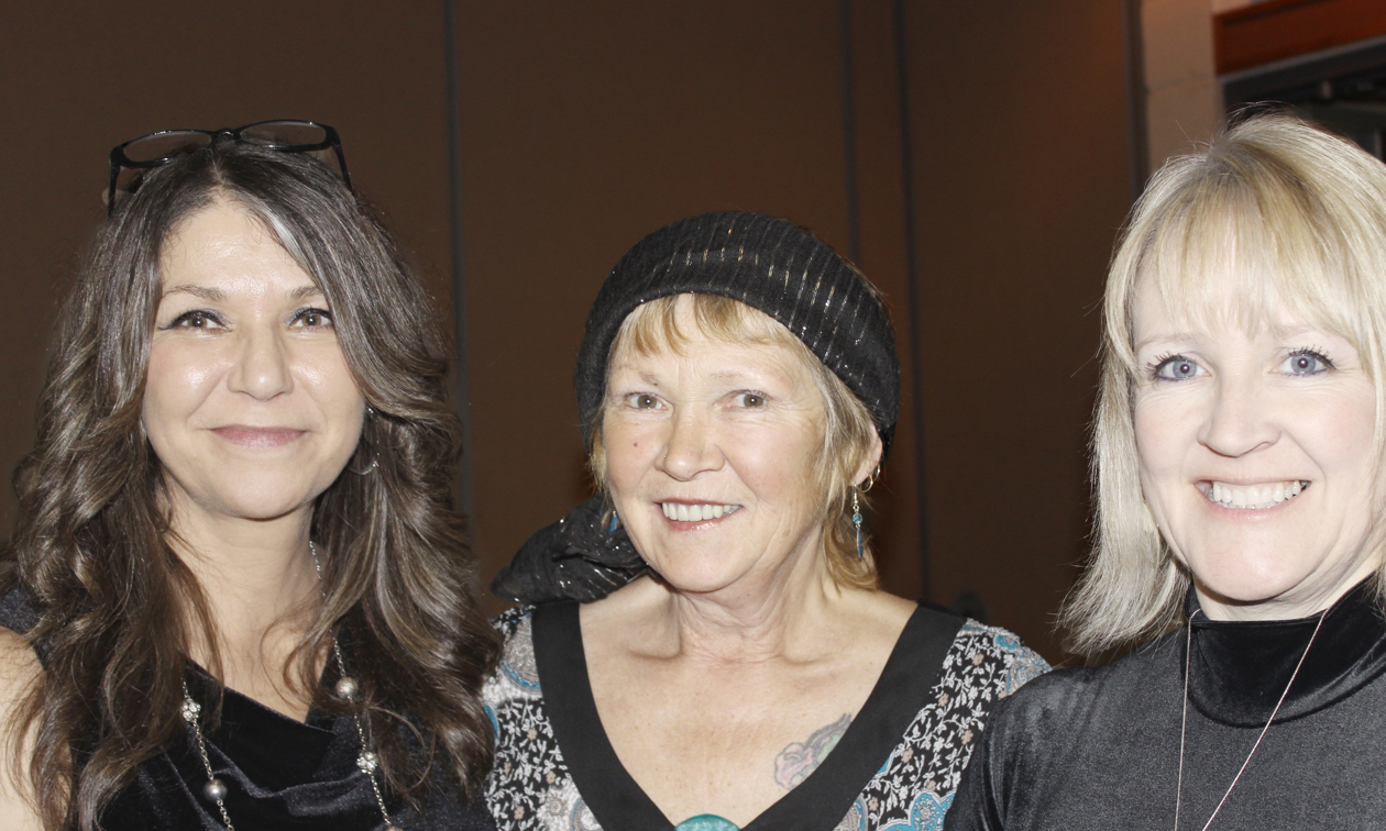 (L to R) Tammy Verigin-Burk, Susan Stewart and Anna Kaytor of the Castlegar & District Chamber of Commerce. Photo courtesy Tammy Verigin-Burk