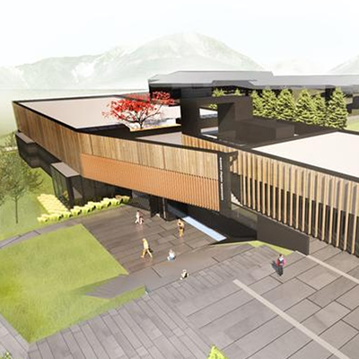 Artist's rendition of the new Columbia Valley Community Centre.