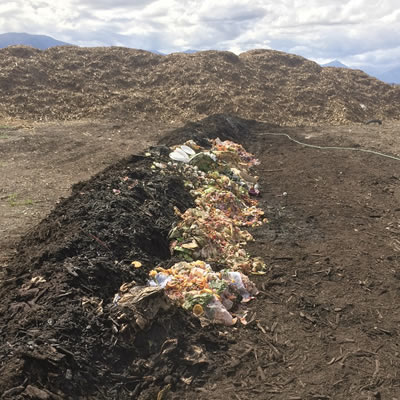 Community composting site.