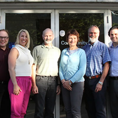 The new Community Futures Central Kootenay Board of Directors consists of (from left to right) Chris Bell, Dan Salekin, Charlotte Ferreux, Jim Holland, Frances Swan, Bob Wright, Robert Bleier and Peter LeCouffe.