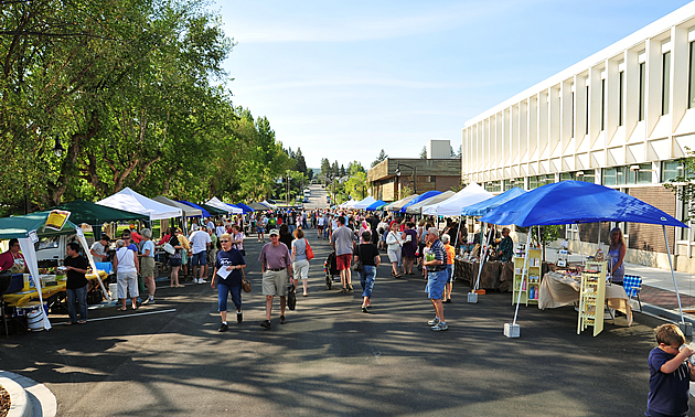 Cranbrook's farmers market is a popular attraction.