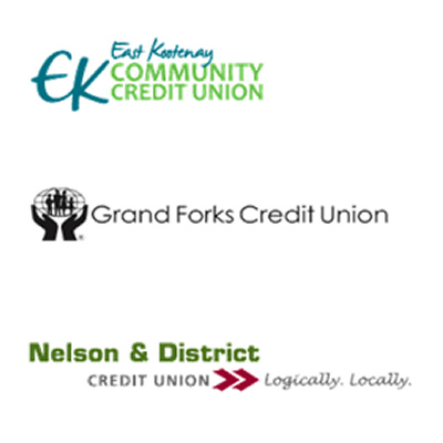 Logo of three credit unions involved in partnership.