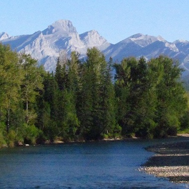 Mountains, forests and rivers define the Kootenay region. Above:  the Elk River.