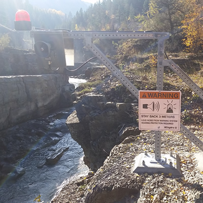 BC Hydro have put into place and operation a new Elko Dam Warning System.
