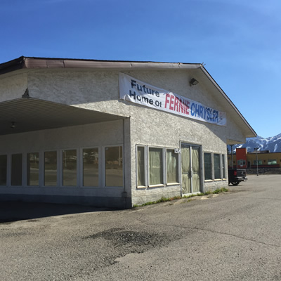 Picture of former Fernie Ford building.