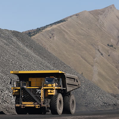 Picture of industrial truck used for mining.