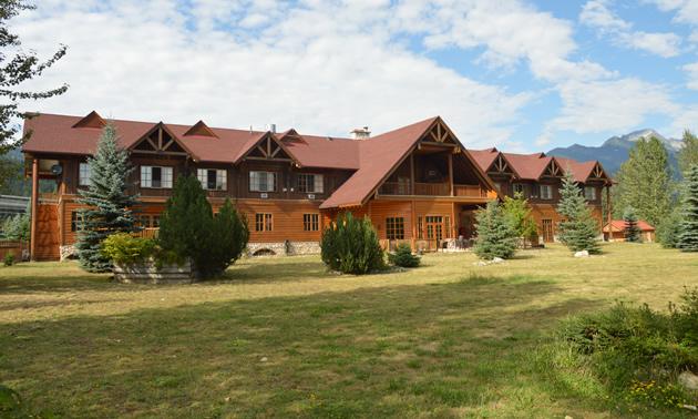 The front of Glacier House Resort in Revelstoke.