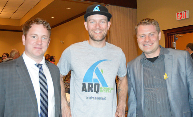 Luke Pierce, Gord McArthur and Gerry Taft were guest speakers at Kootenay Business magazine's 40 under 40 awards luncheon on April 8, 2016.