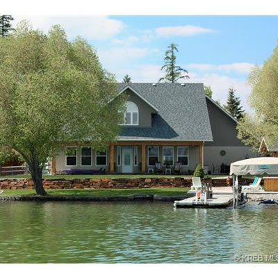 Picture of waterfront house with dock.