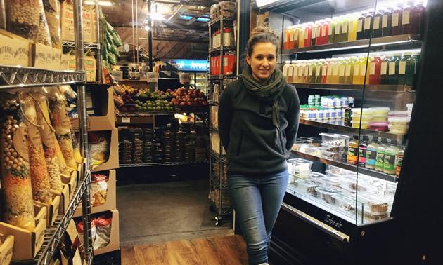 Jill Bentley-Lobban by the juice bar at Kimberley Centex.