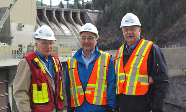 John Walker, VP of western canadian operations for Fortis Inc stands in front of the Waneta Expansion Project.