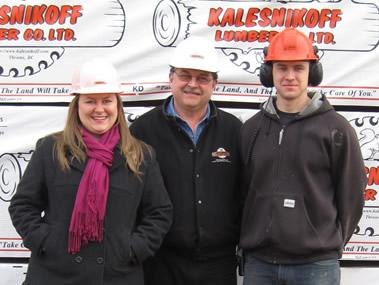 rystle, Ken and Chris Kalesnikoff standing together