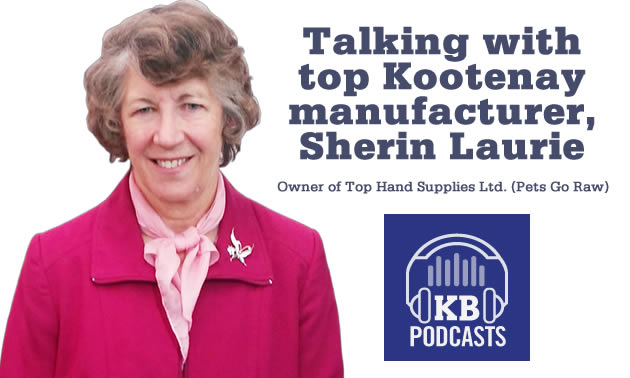 KB podcast logo, with picture of Sherin Laurie.