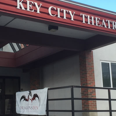 Outside of Cranbrook's Key City Theatre.