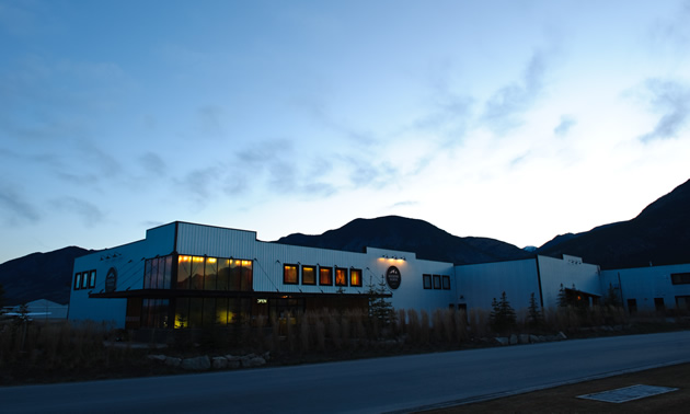 The exterior of the Kicking Horse Coffee company.