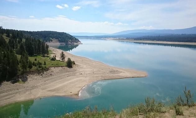 Koocanusa Lake.