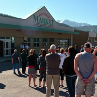 The storefront of the new Kootenay Market in Elkford.