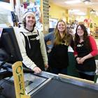 Kootenay Co-op staff from left to right: Andrew Duff, Julia Hamilton, Alexa Cramton.