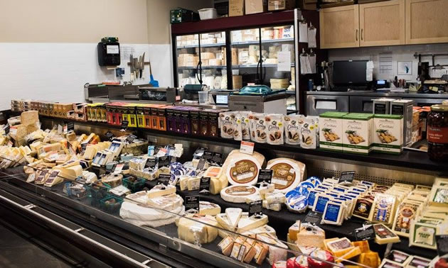 The extensive cheese/deli department.