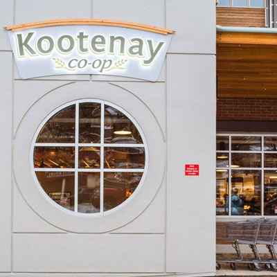 Entrance to the new Kootenay Co-op.