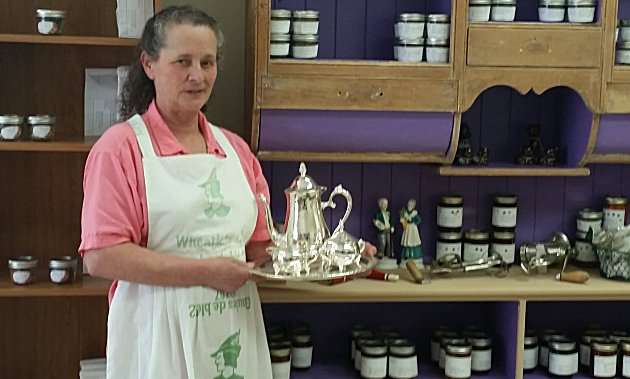 Laura Young, herbalist and wild craft artisan shop owner