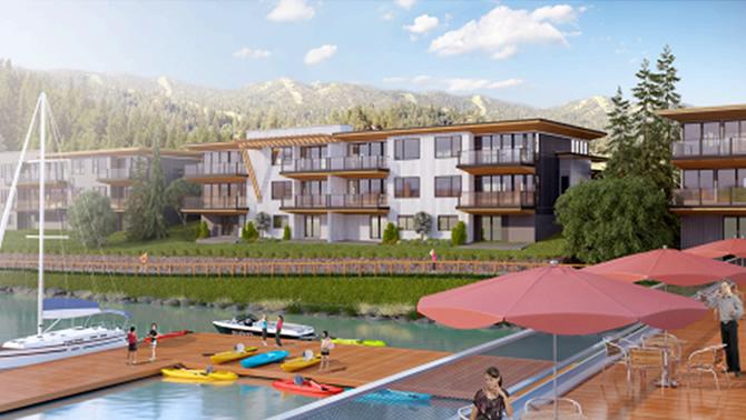 Artist's conception of Nelson Landing development in Nelson, B.C.