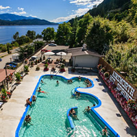 View of Ainsworth Hot Springs Resort pool