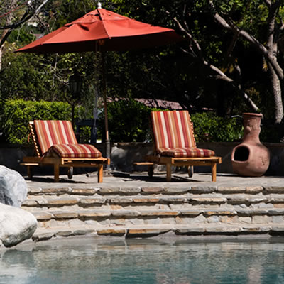 Picture of backyard pool area