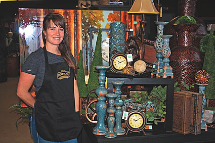 Lady Standing Next To Home Decor Items In Cranbrook Bc