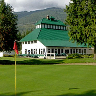 Picture of the Revelstoke Golf Club clubhouse.