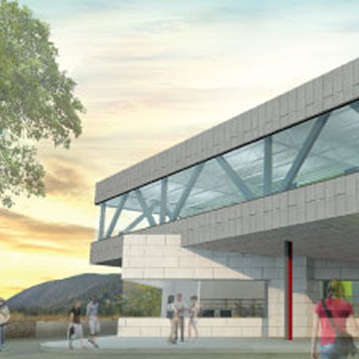 An artist's rendition of the new Trail Riverfront Centre.