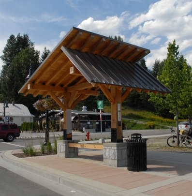Rossland has recently completed a revitalization resulting in a beautiful downtown.
