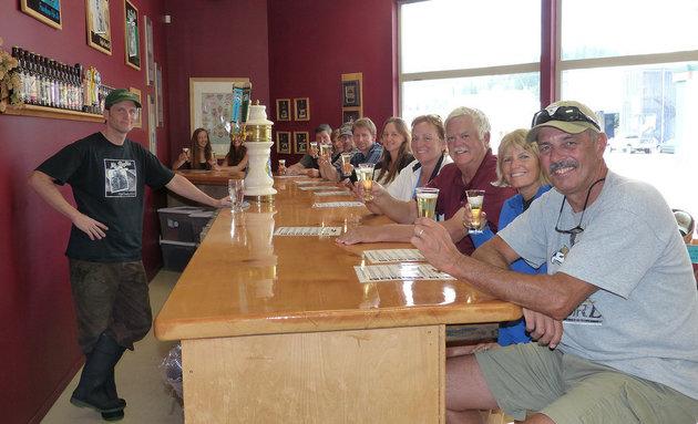Visitors enjoying beer on tap at Mt. Begbie Brewing Co. in Revelstoke.   Kirsten Armleder photo