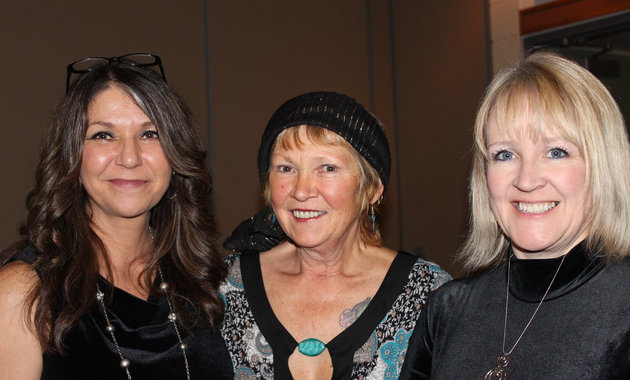 (L to R) Tammy Verigin-Burk, Susan Stewart and Anna Kaytor of the Castlegar & District Chamber of Commerce. Photo courtesy Tammy Verigin-Burk