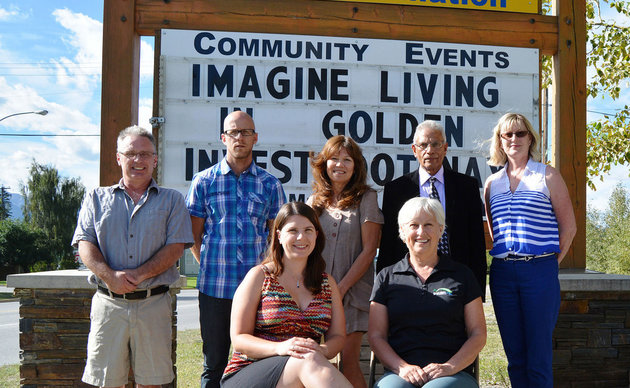 Board members of the Kicking Horse Country Chamber of Commerce with chamber manager Ruth Hamilton. Golden Star photo
