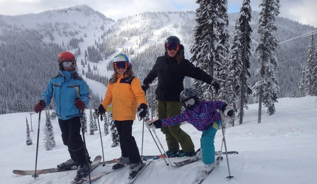 Golovach is proud to take his family out on the alpine terrain. From left to right: Hunter, Bryce, Kristina and Tia.