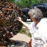 Our Kootenay Business writer takes a look at one of the sculpures in Castlegar's highly successful Sculpturewalk program.