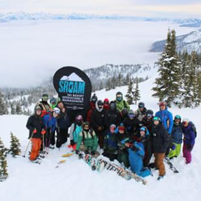 Students in the Selkirk College Ski Operations & Management Program.