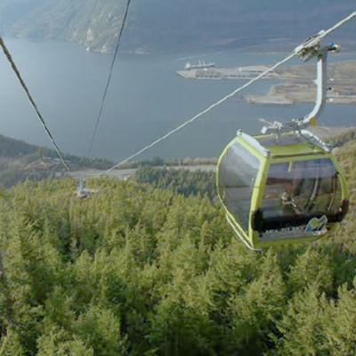 Scenic view of gondola.