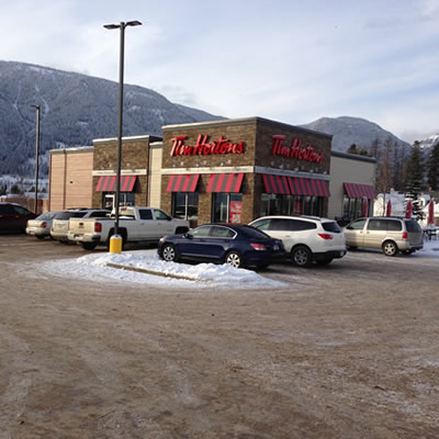 Picture of the Sparwood Tim Hortons.