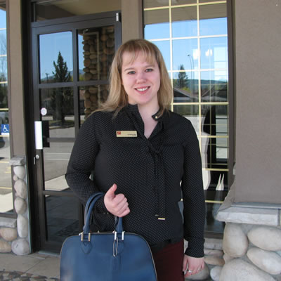 Sylvianne Roy, new manager of Cranbrook's CIBC branch on Baker Street.