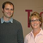 Linda Birch, centre manager, and Blair Stevenson, operations supervisor at Tamarack Centre