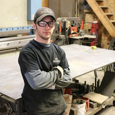 A graduate of the Selkirk College Metal Fabricator Foundation Program, Rossland's Tyler Hwalstad is working on his apprenticeship at Columbia Steel Fabricating & Welding.