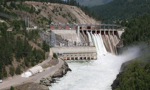 The Waneta Dam.