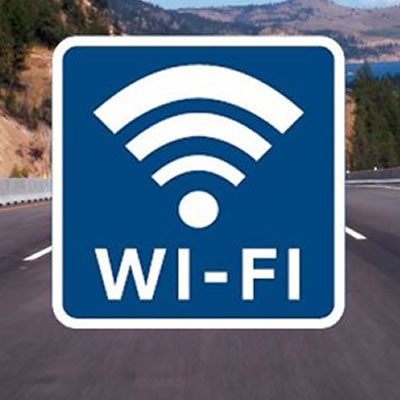 Example of highway wi-fi sign.