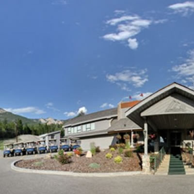 Front entrance of the Radium Hot Springs Golf Club.