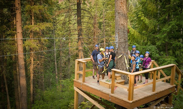 When completed the project will include a combination of six ziplines crossing Fairmont Creek in several locations.