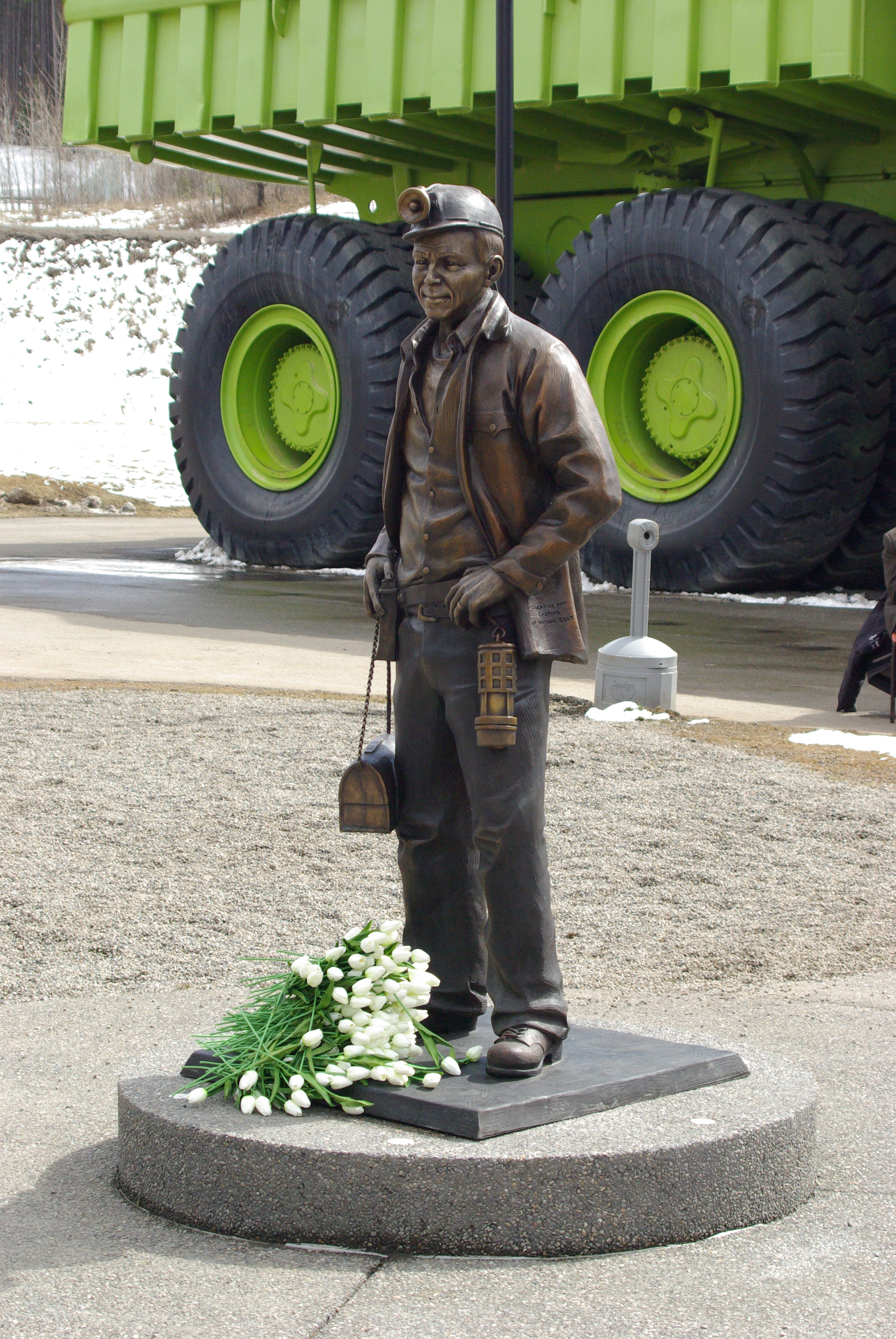 The Sparwood Memorial Miner's statue.
