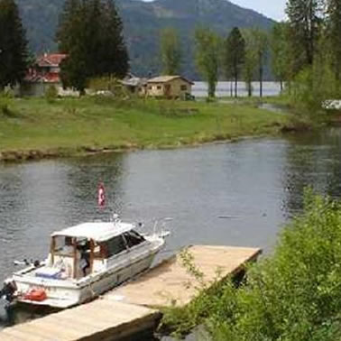 view of Christina Lake access riverfront